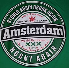 Amsterdam 420 Stone again drunk again t shirt extra large for men hip hop urban