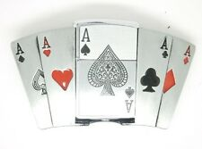 Belt Buckle with Lighter Storm lighter Poker Card game Asse