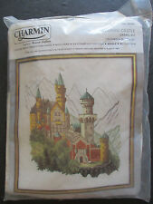 VINTAGE CHARMIN 'BAVARIAN CASTLE' 18 x 20 CREWEL KIT -NEW