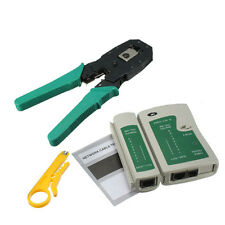 New Portable LAN Network Tool Kit Utp Cable Tester and  Plier Crimp Crimper