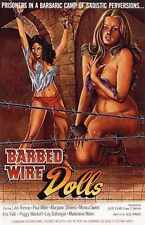 Barbed Wire Dolls 1975 Poster 01 A3 Box Canvas Print