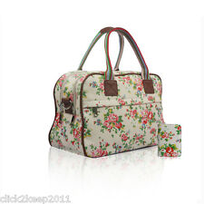 Ladies Floral Flower Maternity Day Overnight Bag Travel Hand Luggage & Purse