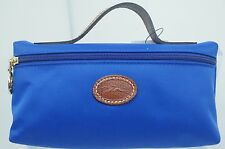 Longchamp Le Pliage Pouchette Cosmetic Case Pouch Nylon Blue Bag NWT