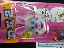 PEZ Easter Bunny E Pink Stem MIB Card