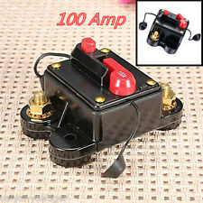 Waterproof 100 Amp Manual Reset Circuit Breaker Switch 12V Car SUV Marine Boat