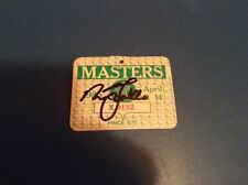 1985 USED MASTERS GOLF BADGE~COLLECTORS ITEM~VERY VERY RARE TICKET~FALDO SIGNED