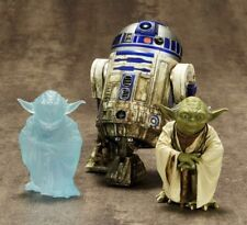Star Wars V Empire Dagobah R2-D2 & Yoda Statues 2 Pack Kotobukiya ArtFX+ NEW