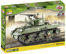 M4A1 Sherman tank COBI 2464 Small Army building blocks WWII toys bricks not LEGO