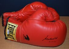 Muhammad Ali Signed Red Everlast Boxing Glove with Inscription Size 12 PSA/DNA