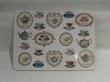 Vintage Tea Time Design Set of 4 Cork Back Placemats Place mats Table LP92103