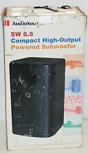 AudioSource Black SW 6.5 Compact High-Output Powered Subwoofer in original box