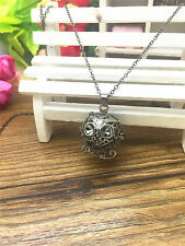 Perfume Fragrance Essential Oil Aromatherapy Diffuser cage Locket Necklace GZ109