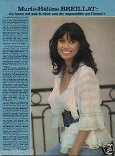 Coupure de presse Clipping 1978 Marie Hélène Breillat  (1 page)