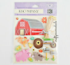 K&Company Farm Barn Countryside Farm Animals Scrapbooking Cardstock Stickers