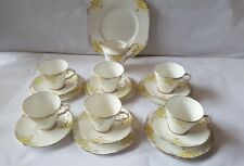 Art Deco Gladstone China Six Trio Plus sanwich & Jug Tea service