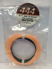 CORTLAND 444 WF7F/S TYPE 1 SLOW SINK TIP ROCKET FLY LINE MSRP $62.00
