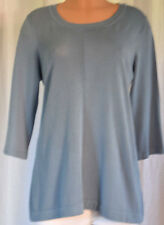 PESERICO TRICOT KNITBLUE SCOOP NECK 3/4 SLEEVES BLOUSE SIZE 48
