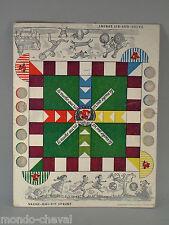 PLATEAU DE JEU DE PETITS CHEVAUX publicitaire, en carton,  La Vache qui rit