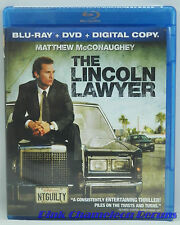 The Lincoln Lawyer (Blu-ray/DVD, 2011, 2-Disc Set) W/Slipcover