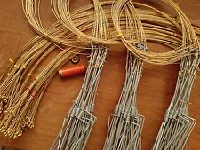 Rabbit Snare Traps ,Wire Loop only, Pack of 10...Pest Control...Fence Sets..etc
