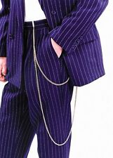 Costumes! Zoot Suit Gangster Long Gold Pants Double Chain