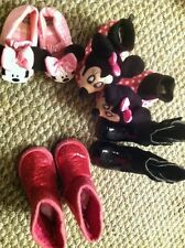 Toddler Girls Size 5/6 Slippers & Boots Lot Of 4 Pairs Disney & George