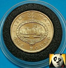 1983 SCARCE ISLE OF MAN £1 One Pound Peel Town Commissioners Manx Coin