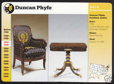 DUNCAN PHYFE American Furniture Maker Photo 1997 GROLIER STORY OF AMERICA CARD