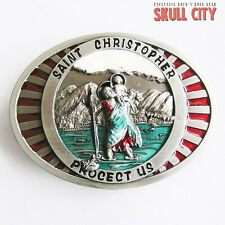 SAINT CHRISTOPHER I BELT buckle - belt buckle - Holy Holy Jesus Maria God