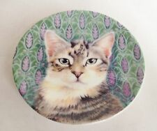 Lesley Anne Ivory Cats Sheena & The Lavender Miniature Plate - Royal Worcester