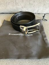 Ermenegildo Zegna Men's Black Belt