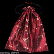 Beautiful New Embroidered Silk Satin Purse Pouch Clothes Shoes Underwear Bag New