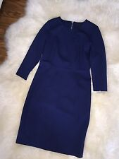 $158 NWT Blue Jcrew Structured Knit Zip Pencil Dress Womens Sz 10