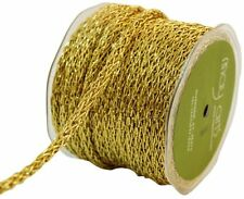 1/4 Inch Chain Cord Ribbon metallic gold color price per yard