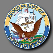 """US Navy Parent Support Decal Sticker 4"""" Show Your Support for Your Sailor USN"""