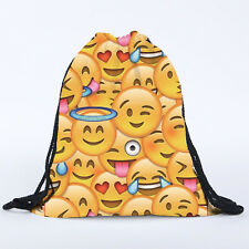 Girls Boys Drawstring Swim Sportswear Shoe Dance Bags Schoolbags Backpack Gym R