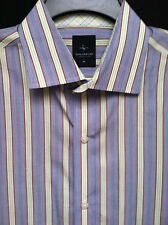 Men's Tailorbyrd Blue Green Stripe LS Shirt Size XL EUC!