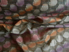INDIAN PAISLEY EMBROIDERED RAW SILK MULTI DRESSMAKING FABRIC SARI TEX EX 531