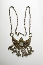 Tribal ethnic Philippines necklace low grade solid silver Mindanao? coin antique