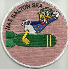 US NAVAL AUXILIARY AIR STATION SALTON SEA MILITARY PATCH - NAS DONALD DUCK