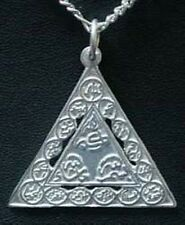 LOOK Sterling Silver Pendant Names of Allah Muslim Islamic