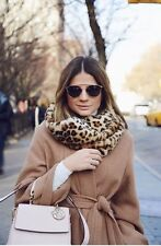 ZARA NEW SEASON LEOPARD FAUX FUR CROSSOVER SNOOD SCARF SOLD OUT *