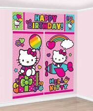 Hello Kitty Scene Setter Birthday Wall Banner Decoration party Supplies Favors