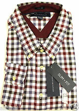 NEW TOMMY HILFIGER SLIM FIT  BUTTON FRONT LONG SLEEVE COTTON  SHIRT XXL
