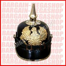 German Leather Prussian Pikelhaube Helmet WW1 WW2 officer costume Hat Larp**