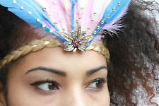 GATSBY 20S PASTEL FEATHER HEADDRESS BAND FESTIVAL FAIRY PIXIE INDIE GRUNGE