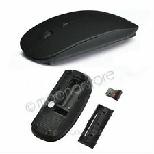 Ultra Thin USB Optical Wireless Mouse 2.4G Wireless Mouse + USB Receiver Blacks