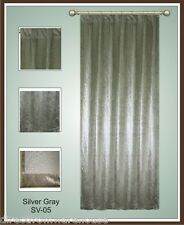 Saaria 14OZ Silk Pleated Velvet Curtain Panel Home Decor 6'Wx8'H Silver Grey