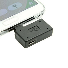OTG Host Adapter 90 Degree Left Angled With USB Power Micro USB 2.0