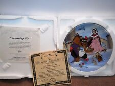 Disney's Beauty and the Beast 1993 Knowles Collector Plate Warming Up